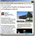 Stonesville-based Cirrus Construction Inc. began construction this week on a 10-unit hangar